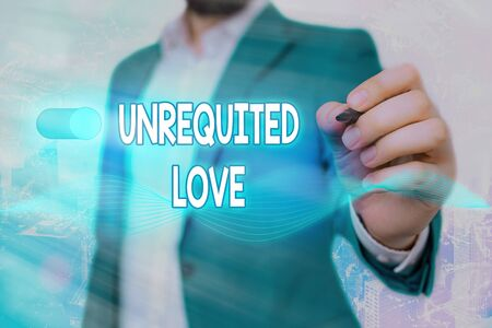 Word writing text Unrequited Love. Business photo showcasing not openly reciprocated or understood as such by beloved Zdjęcie Seryjne