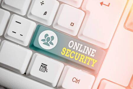 Handwriting text writing Online Security. Conceptual photo rules to protect against attacks over the Internet