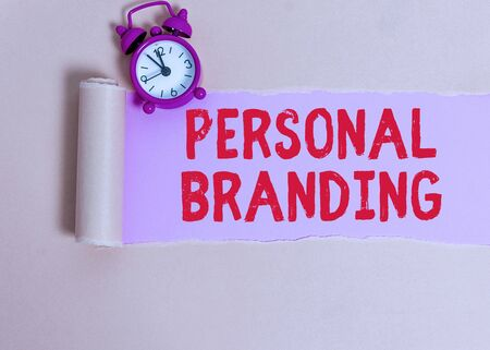 Handwriting text writing Personal Branding. Conceptual photo Practice of People Marketing themselves Image as Brands