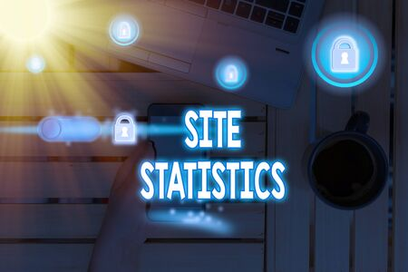Text sign showing Site Statistics. Business photo text measurement of behavior of visitors to certain website