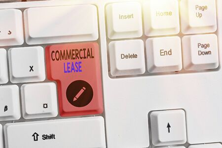 Text sign showing Commercial Lease. Business photo showcasing refers to buildings or land intended to generate a profit