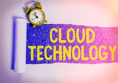 Conceptual hand writing showing Cloud Technology. Concept meaning storing and accessing data and programs over Internet