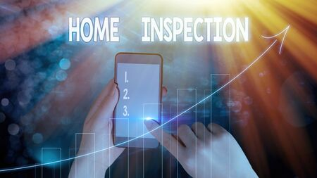 Text sign showing Home Inspection. Business photo text Examination of the condition of a home related property