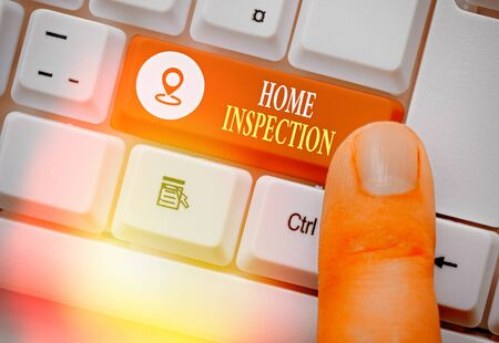 Handwriting text Home Inspection. Conceptual photo Examination of the condition of a home related property