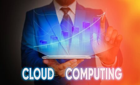 Handwriting text Cloud Computing. Conceptual photo use a network of remote servers hosted on the Internet