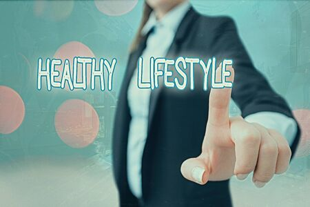 Writing note showing Healthy Lifestyle. Business concept for Live Healthy Engage in physical activity and exercise