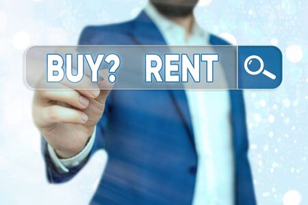 Handwriting text Buy Question Rent. Conceptual photo Group that gives information about renting houses
