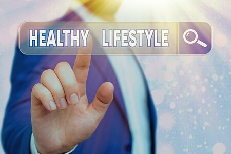 Text sign showing Healthy Lifestyle. Business photo showcasing Live Healthy Engage in physical activity and exercise Фото со стока
