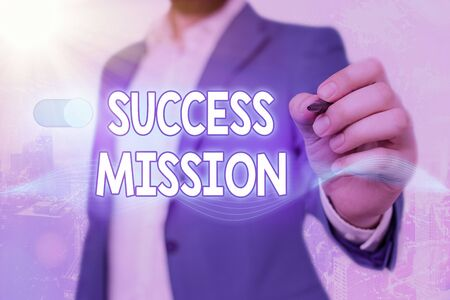 Word writing text Success Mission. Business photo showcasing getting job done in perfect way with no mistakes Task made