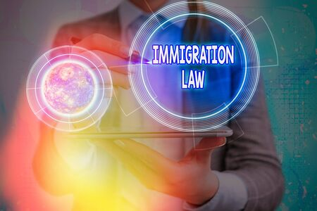 Conceptual hand writing showing Immigration Law. Concept meaning Emigration of a citizen shall be lawful in making of travel