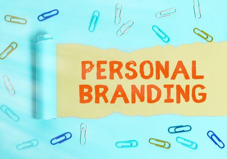 Handwriting text Personal Branding. Conceptual photo Practice of People Marketing themselves Image as Brands