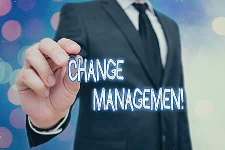 Word writing text Change Management. Business photo showcasing Replacement of leadership in an organization New Policies