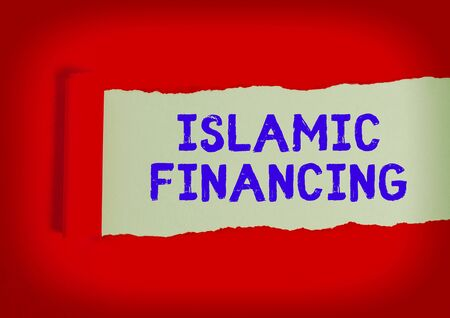Handwriting text writing Islamic Financing. Conceptual photo Banking activity and investment that complies with sharia