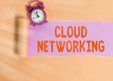 Handwriting text writing Cloud Networking. Conceptual photo is term describing access of networking resources