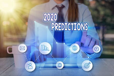 Handwriting text 2020 Predictions. Conceptual photo list of things you feel that going to happen without proof Banco de Imagens