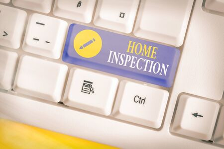 Text sign showing Home Inspection. Business photo showcasing Examination of the condition of a home related property