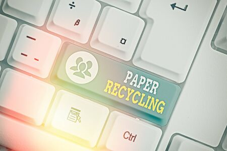 Handwriting text writing Paper Recycling. Conceptual photo Using the waste papers in a new way by recycling them