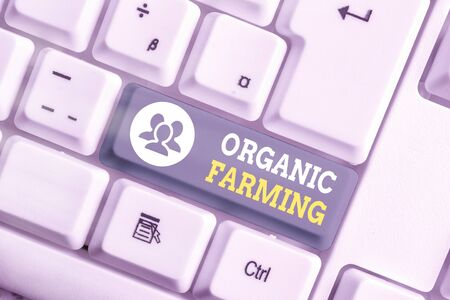 Handwriting text writing Organic Farming. Conceptual photo an integrated farming system that strives for sustainability