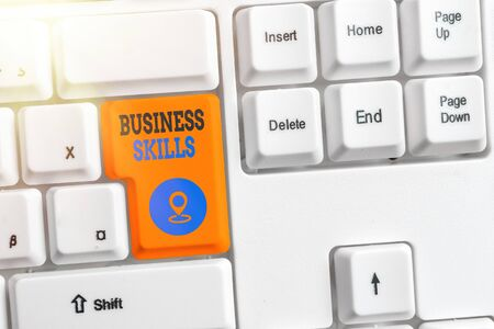Handwriting text Business Skills. Conceptual photo An ability to acquire systematic effort of job functions