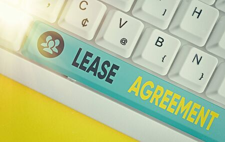 Word writing text Lease Agreement. Business photo showcasing Contract on the terms to one party agrees rent property