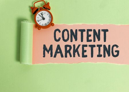 Text sign showing Content Marketing. Business photo text Involves the creation and sharing of online material
