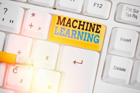 Word writing text Machine Learning. Business photo showcasing give computers the ability to be taught with data