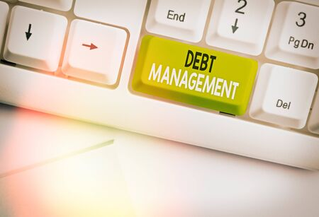 Text sign showing Debt Management. Business photo text The formal agreement between a debtor and a creditor