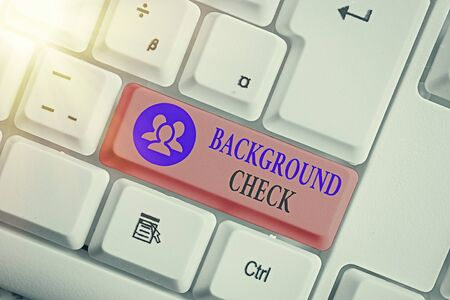 Conceptual hand writing showing Background Check. Concept meaning way to discover issues that could affect your business