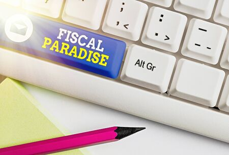 Handwriting text Fiscal Paradise. Conceptual photo The waste of public money is a great concern topic