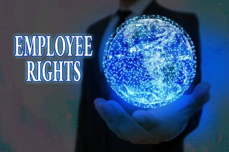 Handwriting text Employee Rights. Conceptual photo All employees have basic rights in their own workplace
