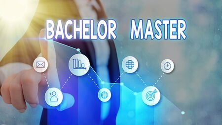 Handwriting text Bachelor Master. Conceptual photo An advanced degree completed after bachelor s is degree