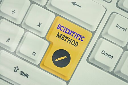 Handwriting text Scientific Method. Conceptual photo Principles Procedures for the logical hunt of knowledge Stock fotó
