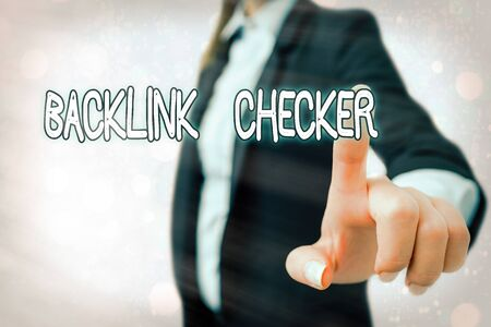 Writing note showing Backlink Checker. Business concept for Find your competitors most valuable ones and spot patterns