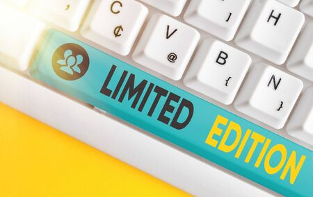 Word writing text Limited Edition. Business photo showcasing Work of something which is only produced in small numbers
