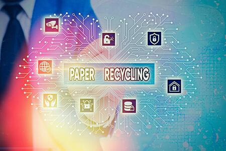 Word writing text Paper Recycling. Business photo showcasing Using the waste papers in a new way by recycling them