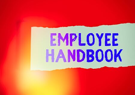 Handwriting text writing Employee Handbook. Conceptual photo Document that contains an operating procedures of company