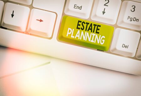 Text sign showing Estate Planning. Business photo text The management and disposal of that an individual s is estate