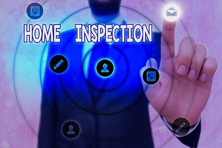 Conceptual hand writing showing Home Inspection. Concept meaning Examination of the condition of a home related property
