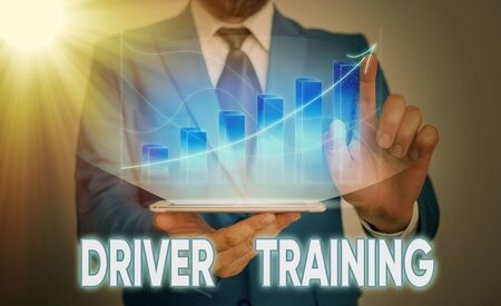Handwriting text Driver Training. Conceptual photo prepares a new driver to obtain a driver s is license Imagens