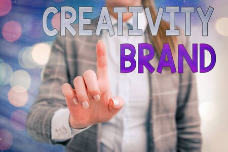 Handwriting text writing Creativity Brand. Conceptual photo design name or feature that distinguishes organization