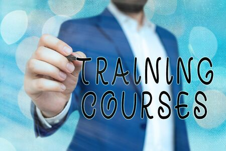Handwriting text Training Courses. Conceptual photo is series of lessons or lectures teaching skills you need Stock fotó