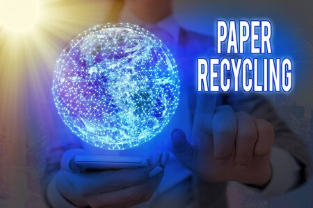 Handwriting text Paper Recycling. Conceptual photo Using the waste papers in a new way by recycling them