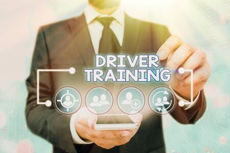 Handwriting text Driver Training. Conceptual photo prepares a new driver to obtain a driver s is license