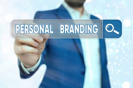 Handwriting text Personal Branding. Conceptual photo Practice of People Marketing themselves Image as Brands Zdjęcie Seryjne