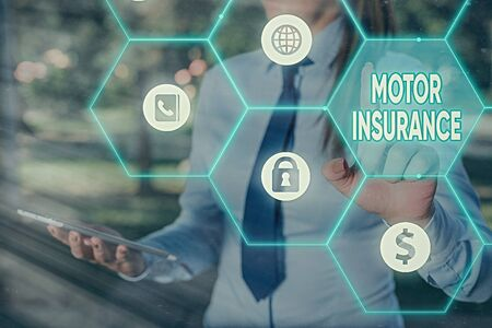 Text sign showing Motor Insurance. Business photo text Provides financial compensation to cover any injuries