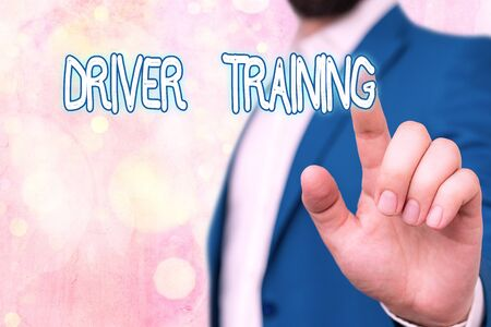 Text sign showing Driver Training. Business photo showcasing prepares a new driver to obtain a driver s is license Imagens
