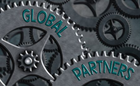 Conceptual hand writing showing Global Partners. Concept meaning Two or more firms from different countries work as a team