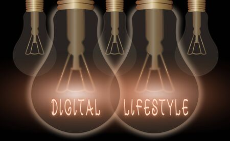 Handwriting text writing Digital Lifestyle. Conceptual photo Working over the internet World of Opportunities