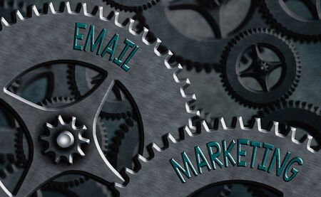 Conceptual hand writing showing Email Marketing. Concept meaning Sending a commercial message to a group of showing using mail