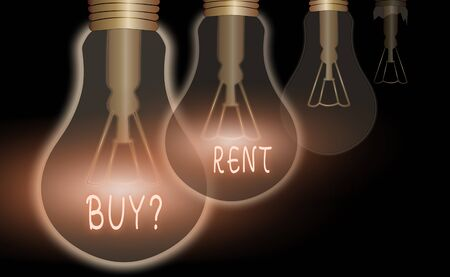 Word writing text Buy Question Rent. Business photo showcasing Group that gives information about renting houses